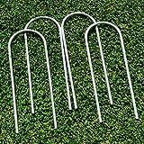 FORZA Fußballtorpfostenanker - robuste U-Stifte für PVC Fußballtore (25cm, 4er-Set)