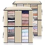 90L Groß Aufbewahrungstasche, Faltbare Unterbett Kleideraufbewahrung, Lagerung mit verstärktem Griff, Unterbett Aufbewahrungs