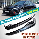 Chromium Styling - 2X ABS Car Front Bumper Lip Corner Cover Trim Protector Carbon Fiber Sticker for for Toyota for Camry Spor