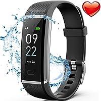 Delishee Fitness Armband Wasserdicht IP67 Fitness Trackers mit Pulsmesser Aktivitätstracker Kalorienzähler ,Pulsuhren,Schrittzähler, Vibrationsalarm Anruf SMS für iOS Android Handy
