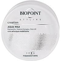 Biopoint Sculptor Aqua Wax 100 ml - Cera Modellante e Lucidante a Base d'Acqua, Fissaggio Forte, Ideale per Look Bagnati