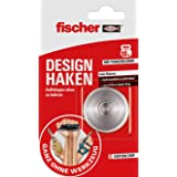 fischer Design haak (10 kg), 1x complete set met designhaken en dubbelzijdig kleefoppervlak, geheel zonder gereedschap - 5459