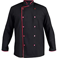 MTC Chef Coat For Men Black, 100% Cotton (Size:38)