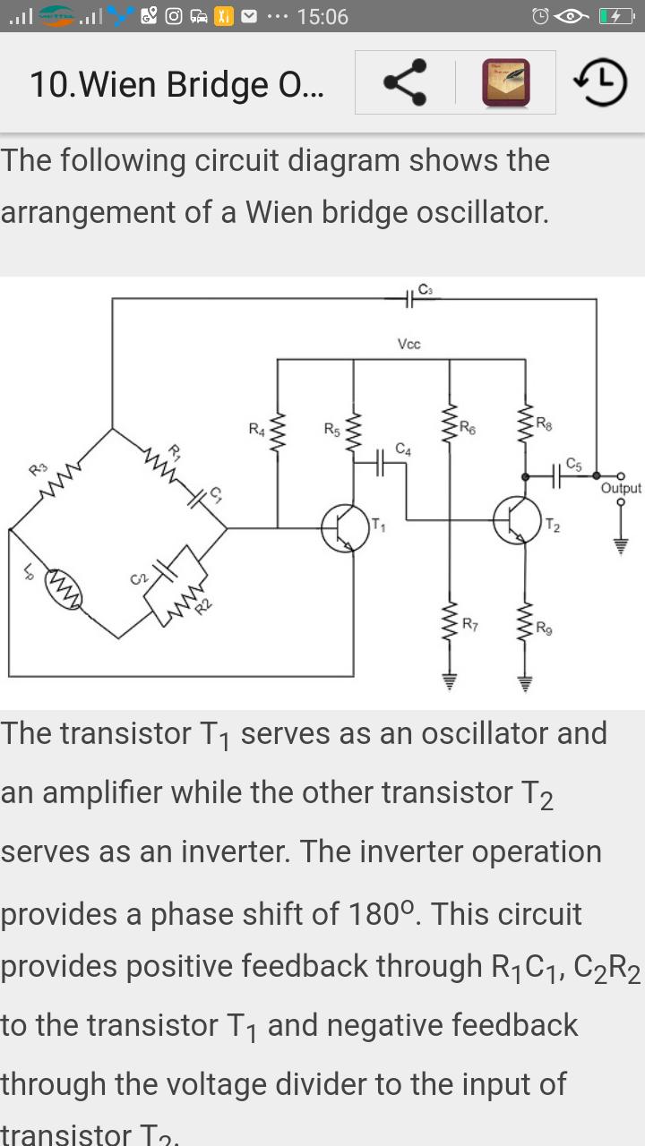 Learn Sinusoidal Oscillators Apps Fr Android Phase Shift Oscillator Circuit Using Transistor Image 000