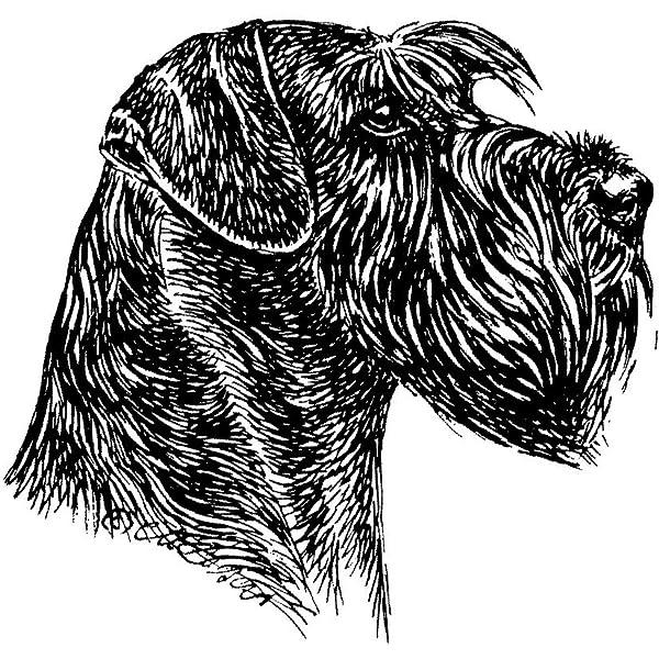 Schecker Autoaufkleber Hundeaufkleber Ideal Für Helle Autos Riesenschnauzer Unkupiert Haustier