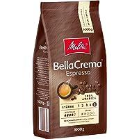 Melitta Ganze Kaffeebohnen, 100% Arabica, kräftig-würziger Geschmack, Stärke 5, BellaCrema Espresso, 1kg