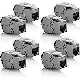 deleyCON 8x Module Keystone CAT 6a Jack/Blindé STP/Connecteur RJ45/Installation Snap-In Montage/Câble Brut CAT/500Mhz/10GBit/s