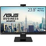 "Asus BE24EQK - Monitor de negocio de 23.8"" (Full HD, IPS, sin marco, antiparpadeo, luz azul de baja intensidad, cámara Full H"