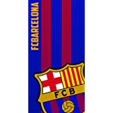 FCB FC Barcelona Asciugamano 100% poliestere, blu 70 x 140 cm