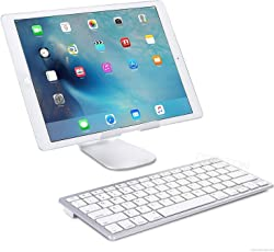ZAAP ULTRA SLIM Bluetooth Universal Keyboard for iPad Air 2/Air/iPad Pro/iPad mini 4/3/2/1/iPad 4/3/2/iPhone 6/Apple iPhone 7/Android Devices (Silver)