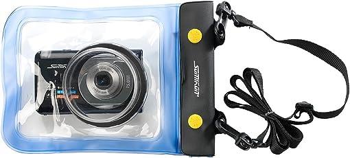 Somikon Unterwasserhülle: Unterwasser-Kameratasche XL mit Objektivführung Ø 55 mm (Unterwasser Kamera Hüllen)