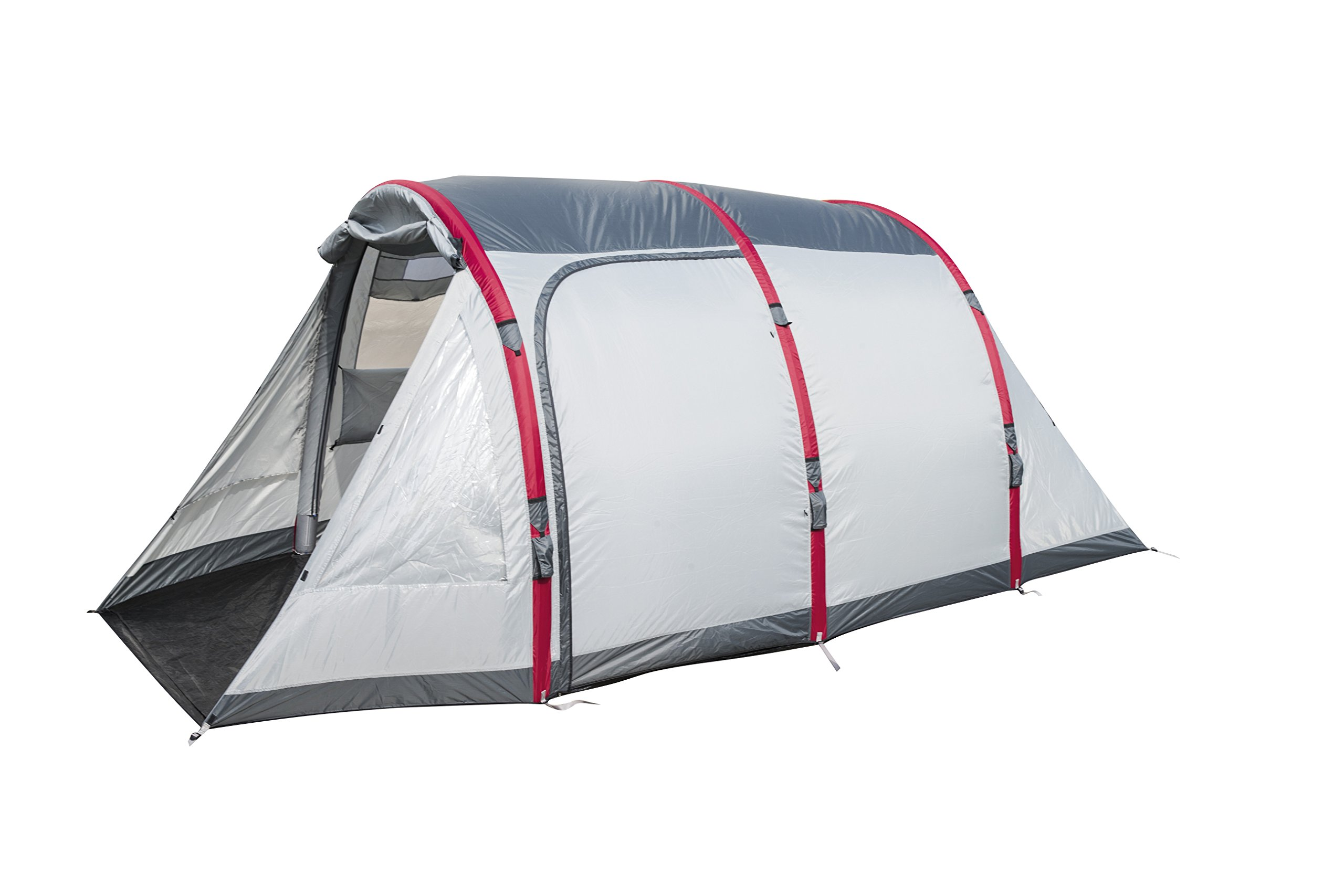 Pavillo Unisex's BW68077 Sierra Ridge Air Inflatable 4-Man Tunnel Tent Measures L4.85m x 2.79m x H2m, Grey, 4 Person 7