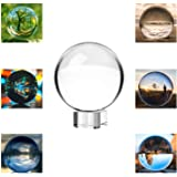 Neewer® 80mm/3pollici Chiara Sfera di Cristallo con Base in Cristallo per Feng Shui/Divination o per Decorazioni di Nozze/Cas