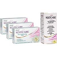 Kozicare Kojic Acid, Vitamin E, Arbutin Skin Lightening Soap, 75g (Pack of 3) and Kozicare Skin Whitening Fairness Oil…