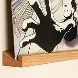 KAIU plank voor lp's, vinyl, eenvoudig te monteren, prachtig en premium materiaal, gemaakt van massief eiken - Slank en elega