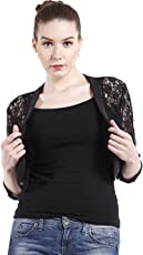 Peptrends Women's Net and Lace Shrug