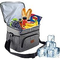 HebyTinco 15L Sac Isotherme, Repas Déjeuner Portable Bandoulière Grande Capacité Étanche Cooler Bag pour Pique-nique…