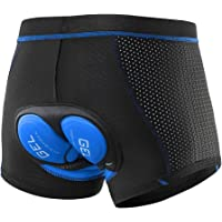 Lixada Men's Cycling Undershorts 3D Padded Breathable Mesh MTB Bike Riding Biking Underwear Shorts