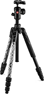 Manfrotto Befree Advanced Camo, Kit Treppiede Advanced Travel, con Testa a Sfera con Controlli Ergonomici, Chiusure Twist Lock, Treppiede Fotografico, Cavalletto per Videocamera e Fotocamera, Grigio