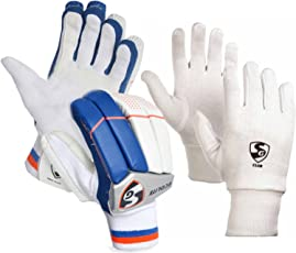 SG Ecolite Club Batting Gloves Combo (Ecolite Batting Gloves + Club Inner Gloves)