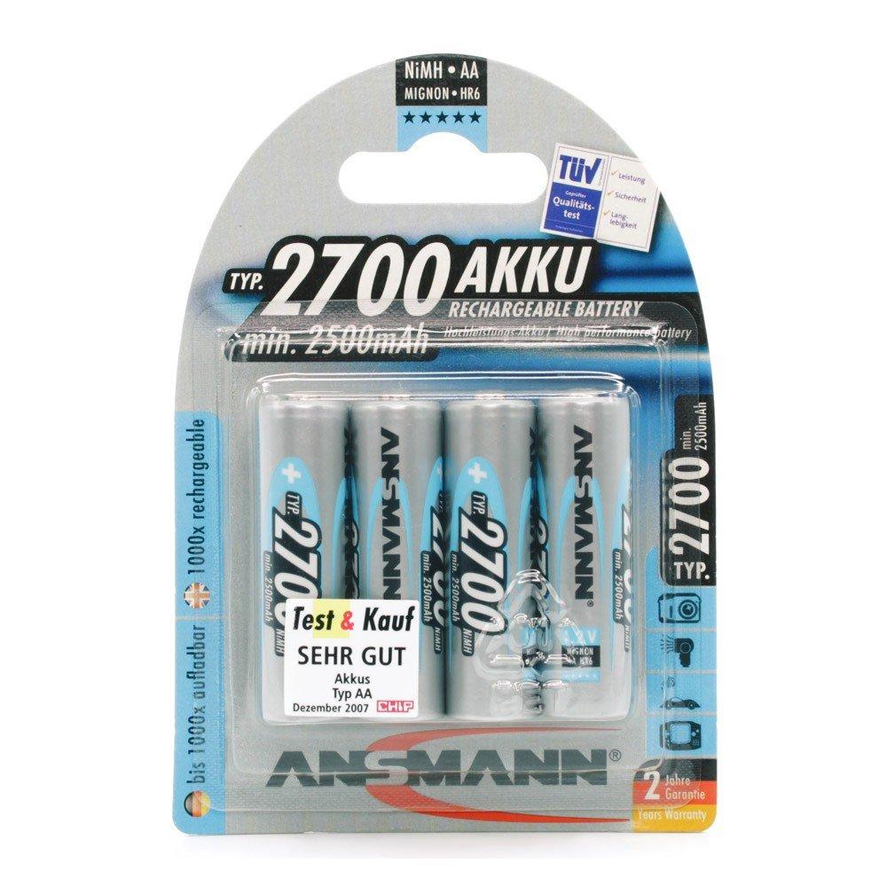ANSMANN Mignon AA Batteria ricaricabile 2700mAh NiMH - Batteria professionale ad alta capacità per f