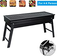 Holahoney Portable BBQ Charcoal Grill Foldable BBQ Tool Kits,Charcoal Barbecue Grill Smoker Grill for Outdoor Cooking Camping
