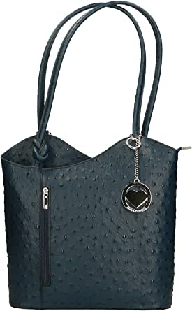 Chicca Borse Bag Borsa a Spalla in Pelle Made in Italy 28x30x9 cm
