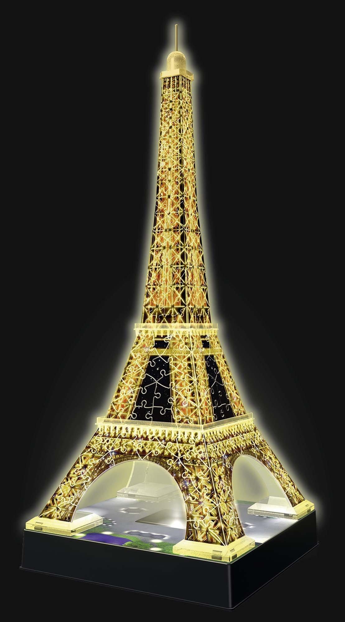 Ravensburger- Tour Torre Eiffel Puzzle 3D con LED, Edizione Speciale Notte, 216 Pezzi, Multicolore, 12579 3 spesavip