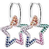 Orecchini donna orecchini cerchio Orecchini circolari orecchini quadrati stella cuore ciondolo cristallo antiallergico rame g