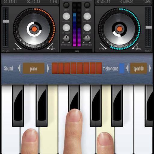 DJ Studio and Piano - Dj-mixer-app
