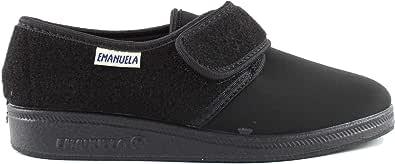 EMANUELA 601 Nero Pantofola Donna Made in Italy Tessuto Elasticizzato Zeppa 2,5 CM