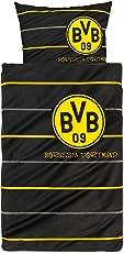 Borussia Dortmund 8254-00-1-01 Dortmund Bettwäsche Polostreifen