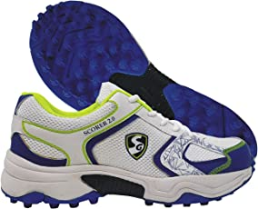 SG Scorer 2.0 Cricket Studs, Size 6 (White/Royal Blue)