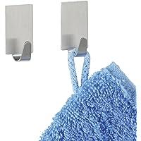 WENKO Crochet carré Strip-it® mat - set de 2, Acier inoxydable, 1.9 x 3.4 x 1.5 cm, Mat