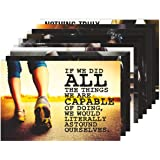 Amazon Brand - Solimo Wall Posters with Adhesive Tape, Set of 10 Gym Workout Posters