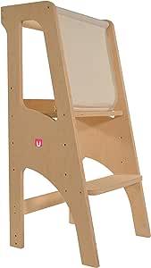 Bianconiglio Kids ® Evo 2020 Learning Tower, Multistrato di Betulla della Migliore qualità, KIDSAFE Legno Naturale Non trattato, Standard