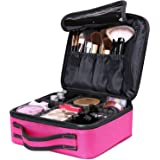 Makeup Cosmetic Storage Case, Professional Make up Train Case Cosmetic Box Portable Travel Artist Storage Bag Brushes Bag Toi
