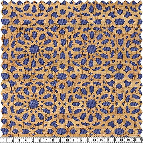 alfa HOME Korkstoff, Uni, Blau, Rose, ca. 50 x 70 cm (60 70 Kostüm Ideen)
