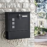 BONADE Briefkasten Wandbriefkasten mit Zeitungsfach Edelstahl Mailbox Zeitungsrolle Sichtfenster Einwurf Format A4…