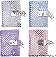 Teen Girls Locking Secret Diary Journal with Sequins