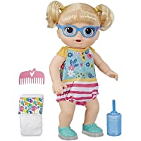 Baby Alive Step n Giggle Baby Blonde Hair Doll with Light-up Shoes, Responds with 25+ Sounds and Phrases, Drinks and…