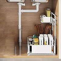 QINGQING La Nouvelle étagère sous évier,étagère de Cuisine,étagère de Rangement multifonctionnelle,étagère à tiroirs…