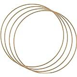 Vaessen Creative Metallring set för hantverk, 4 delar, Ø 25 cm eller 9,8 i diameter, 3 mm tjock, drömfångarring, krans ring f