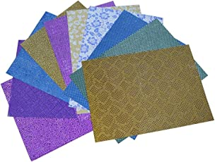Asian Hobby Crafts A4 Sparkling Stickers Sheet 80GSM for Scrapbooking, Craft Projects, Decorations (Multicolour, ASNHC1126_A_FBA) - Pack of 10 Sheets