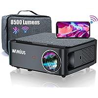 Beamer, Full HD 1080P 8500 Lumen Beamer 5G WiFi Bluetooth Beamer Unterstützung 4K Video, LED Heimkino Video Beamer 300…