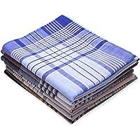 Dokpav Set di 6 fazzoletti da uomo in tessuto Arabias, 40 x 40 cm, 100% cotone, 100% puro cotone