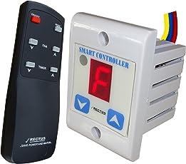 Rectus Enterprises Plastic Digital Wireless Remote Fan Regulator, 4.0x4.0x6.0cm (SR101, Multicolour)
