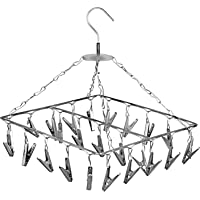 Konquer TimeS 25 Clips Stainless Steel Square Cloth Dryer/Clothes Drying Stand/Hanger with Clips   Baby Cloth Hanger