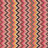 Fabulous Fabrics Strickstoff Chevron Zigzag - pink/rosa -