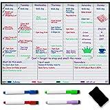 Tygodniowa Manetyczna Tablica-Planer na Lodówkę Biała - Tygodniowy Planer Posiłków – Planer Rodzinny – Zorganizuj Plan, Pozbą